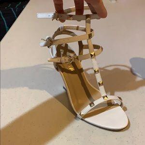 White Gold Studded Wedges